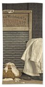 Vintage Laundry Room II By Edward M Fielding Beach Sheet