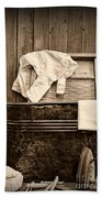 Vintage Laundry Room In Sepia	 Beach Towel