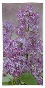Vintage Lilacs Beach Towel