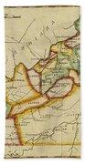 Map Of Kentucky 1812 Beach Towel