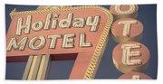 Vintage Motel Sign Holiday Motel Square Beach Towel