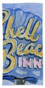 Vintage Neon- Shell Beach Inn Beach Sheet