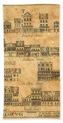 Vintage New Orleans Beach Towel
