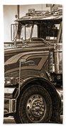 Vintage Peterbilt Truck Beach Towel