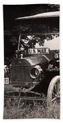 Vintage Photo Of Rural Mail Carrier - 1914 Beach Towel