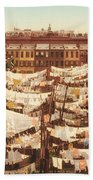Vintage Photo Of Washing Day In New York City 1900 Beach Towel