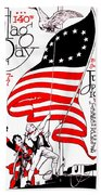 Vintage Poster - America - Flag Day 1917 Beach Towel by Benjamin Yeager