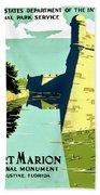 Vintage Poster - Fort Marion Beach Towel