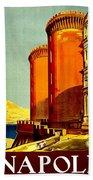 Vintage Poster - Napoli Beach Towel