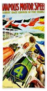 Vintage Poster - Sports - Indy 500 Beach Towel