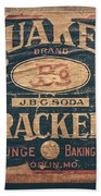 Vintage Quaker Crackers For The Kitchen Beach Towel by Lisa Russo