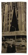 Vintage Radio City Music Hall Beach Towel