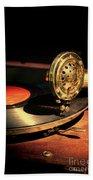 Vintage Record Player Beach Sheet