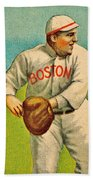 Vintage Red Sox Beach Towel by Benjamin Yeager