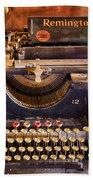 Vintage Remington Typewriter  Beach Towel