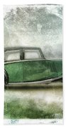 Vintage Rolls Royce Beach Towel by David Ridley