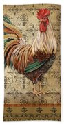 Vintage Rooster-a Beach Towel