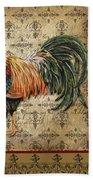 Vintage Rooster-d Beach Towel