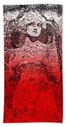 Vintage Ruby Portrait Beach Towel
