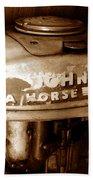 Vintage Sea Horse Beach Towel