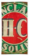 Vintage Sinclair Gasoline Sign Beach Towel