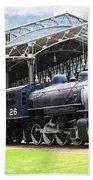 Vintage Steam Locomotive 5d29281 V2 Beach Towel