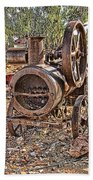 Vintage Steam Tractor Beach Towel by Douglas Barnard