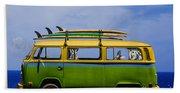Vintage Surf Van Beach Sheet