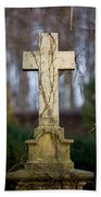 Vintage Tombstone Cross Beach Towel