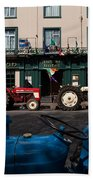 Vintage Tractors Lined Beach Towel