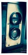 Vintage Twin Lens Reflex Camera Beach Towel by Edward Fielding
