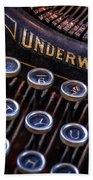 Vintage Typewriter 2 Beach Sheet
