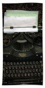 Vintage Typewriter Mechanical Beach Towel