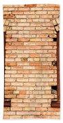 Vintage Urban Brick Building - Salt Lake City Beach Towel