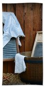 Vintage Washboard Laundry Day Beach Towel