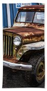 Vintage Willy's Jeep Pickup Truck Beach Towel