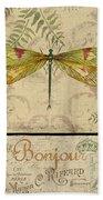 Vintage Wings-paris-e Beach Towel