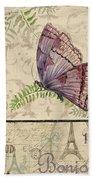 Vintage Wings-paris-i Beach Towel