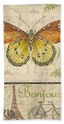 Vintage Wings-paris-l Beach Towel