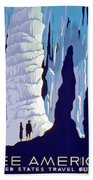 Vintage Wpa Poster See America Beach Towel by Edward Fielding