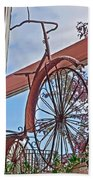 Vintage Wrought Iron Bike In Window Art Prints Beach Towel