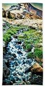 Vintaged Mount Hood Postcard Beach Towel