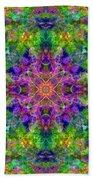 Violet Cosmos Mandala Beach Towel