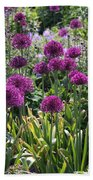 Violet Flowerbed Beach Towel