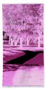 Violet Illusion Beach Towel