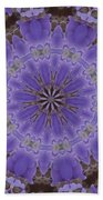 Violet Garden Beach Towel