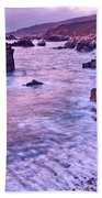 Violet Tides - Rocky Coast From Soberanes Point In Garrapata State  Beach Towel