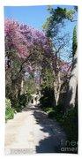 Violet Tree Alley Beach Towel