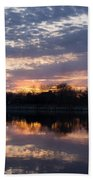 Violet Twilight On The Lake Beach Towel