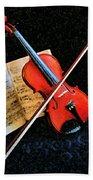 Violin Impression Redux Beach Towel